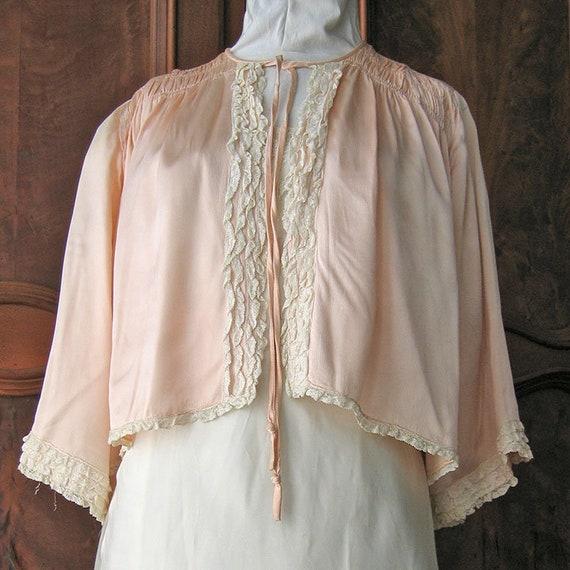 Pink Vintage Bed Jacket