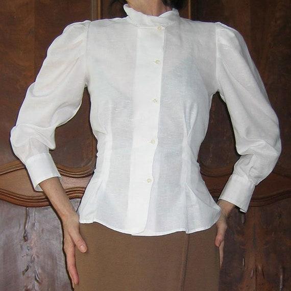 Charivari White Linen Blouse