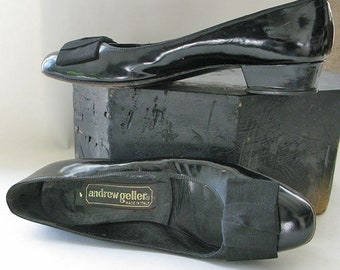 Andrew Geller Black Patent Leather Shoes