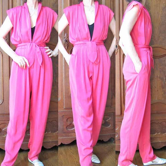 Vintage Hot Pink Jumpsuit