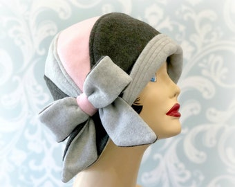 dcf27d8c805992 1920's Fleece Cloche Hat - Women's Winter Fashion Stylish Handmade Headwear  from Boston Millinery