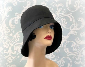 06903bff9451a Waxed Canvas Designer Rain Hat - Showerproof Walk to Work Hats Available in  Three Colors - Handmade in the USA - Gift For Mom