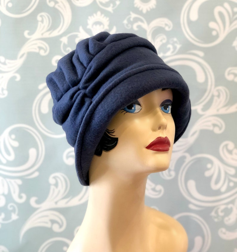 5786146e4c992 Warm Fleece Winter Cloche Flapper Style Downton Abbey Cold