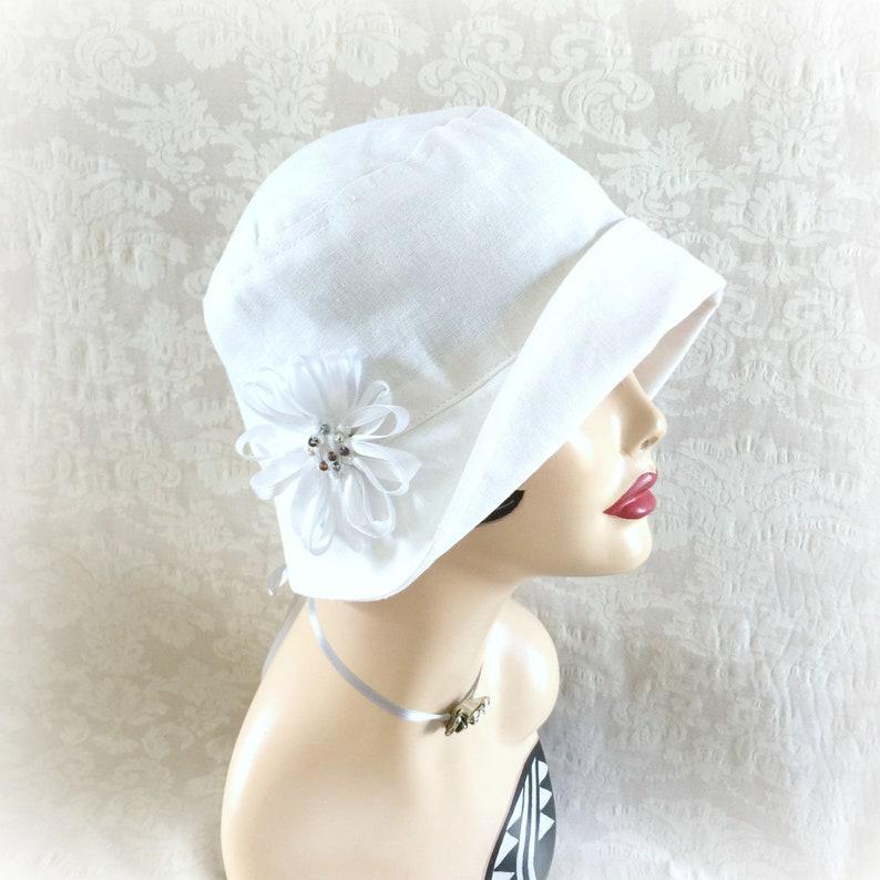 2174e7bcba024a Linen Cloche Women's 1920's Flapper Style Hats | Etsy