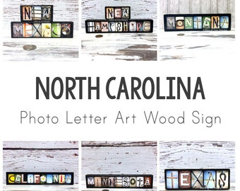 North Carolina Wall Art, Wood Sign, State Signs, State Maps, Map Art, Gifts for Travelers, Travel Map, Travel Gifts Charlotte NC, Raleigh NC