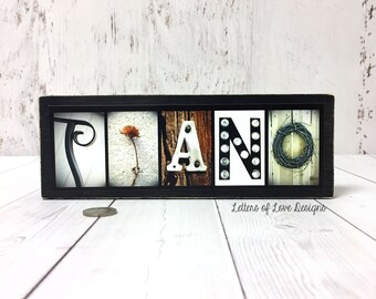 PIANO Wood Sign Piano Gifts Art Pianist Music Decor Musician Gift For Musicians