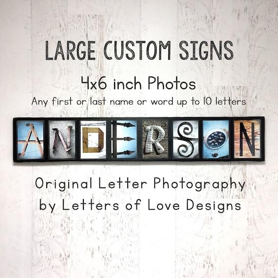 Fast Free Ship 4x6 Individual Photos Name Art Letter Art $3 per Letter