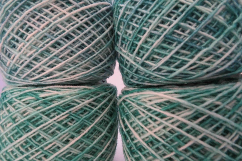 Hand dyed Worsted wt 2 ply Babydoll Southdown Yarn