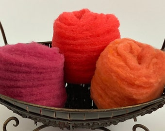 Red Pack of Needle-Felting Fiber 1.5 oz - Babydoll Southdown Wool