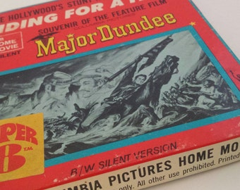 "Vintage Super 8 Western Cinema Classic ""Major Dundee: Riding for a Fall"" Columbia Pictures Home Movie #HF8 Retro Litho & Film Collectible"