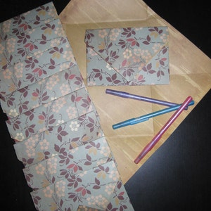 Colorblock Crayon Colors 8 Decorative Folded Self-Closing Origami Paper Ephemera Envelopes Double Thick Single Sided 12x12 Scrapbook Paper