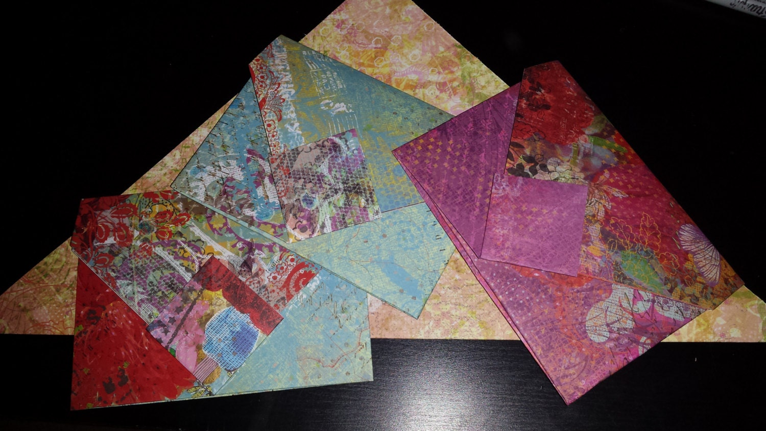 CUSTOMIZABLE ORDER Folded Origami Paper Envelopes for ... - photo#47