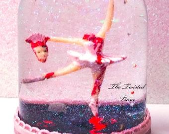 Headless Pink Ballerina Snow Globe