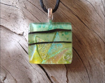 Dichroic glass jewelry  pendant, necklace