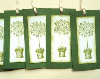 Vintage Style French Inspired Topiary Gift Tags - Set of 12