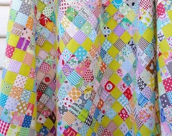 Scrappy Irish Chain Quilt Pattern