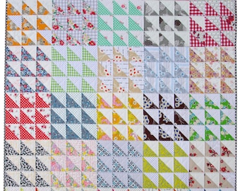 Half Square Triangle Variation Quilt Pattern Pdf File Etsy