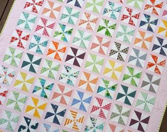 Pinwheels on Parade Quilt Pattern (PDF File) - Immediate Download