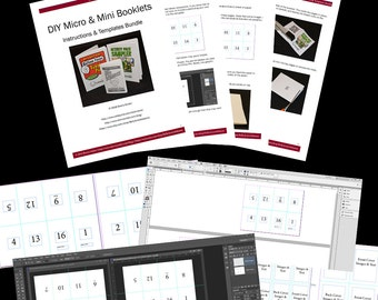 DIY Micro and Mini Booklets Templates | InDesign & Photoshop Templates | Digital Download