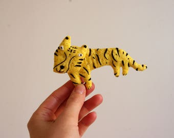 Tiger.  Brooch.  Pin.