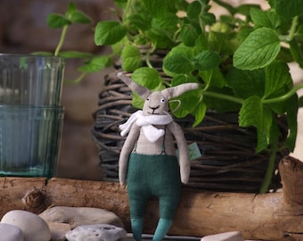 Limited edition. Mint rabbit. The little bunny. Little rabbit. Ready to ship