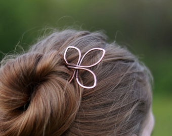 Trinity loop copper hair stick - Triquetra hair fork - Celtic knot pins - Thick hair jewelry - Womens gift - Hair accessories