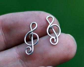 Mulefoot bar earrings Steel horseshoe  arc hoops Women gift For her Asymmetric silver earrings