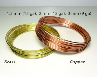 5e044e44baa2 Soft round copper wire   brass wire - 1.5 mm   15 gauge