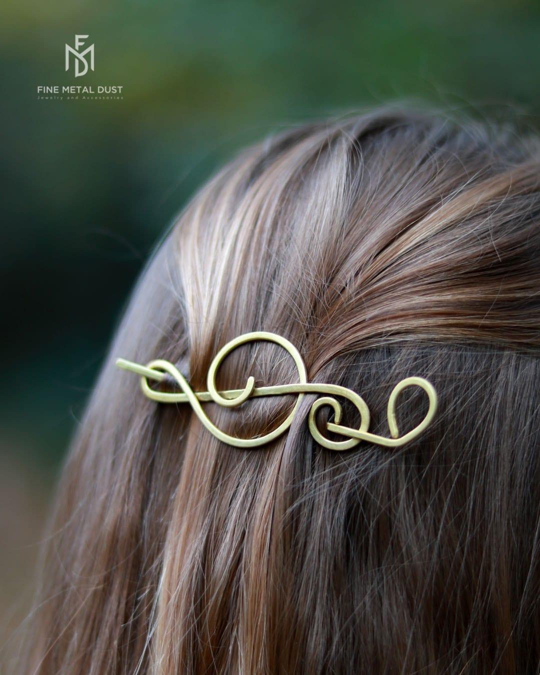 Treble Clef Bronze hair stick hair toy