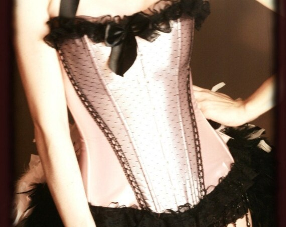APHRODITE Sexy Burlesque Outfit Corset Circus Costume Pink Black Pinup dress - EVERYTHING INCLUDED!