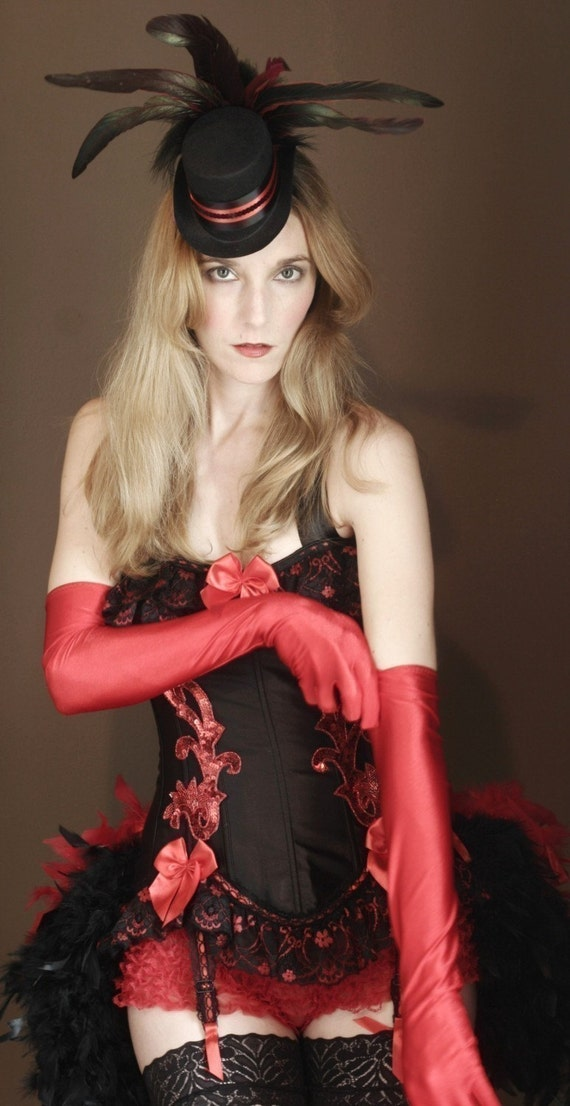 Satin Evening Elbow Length Gloves, Opera style, Red, Black, White, Pink for Burlesque Halloween costume