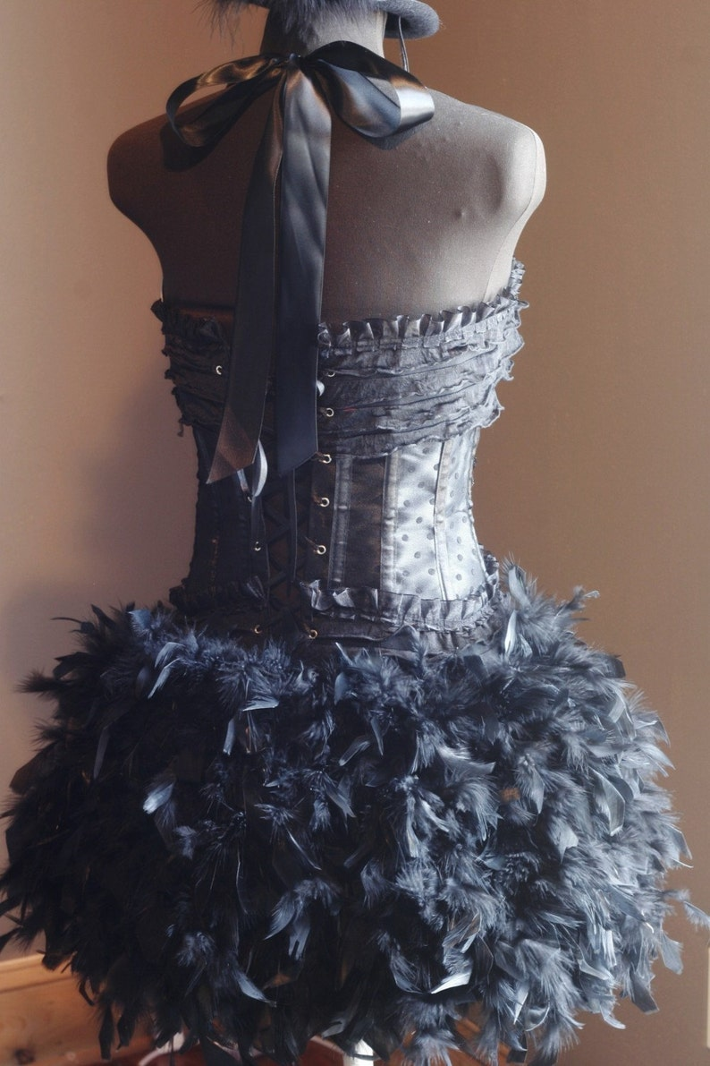 37795512006 BLACK SWAN Costume Burlesque Corset Steampunk Cosplay Dress