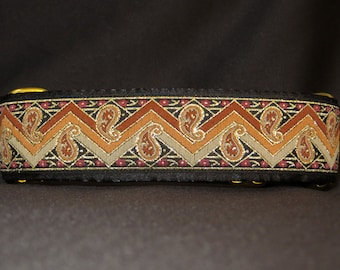Sunset 1.5 or 2 Inch Martingale Greyhound Dog Collar - Padded and Lined with Free Custom Sizing