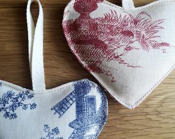 Lavender heart bags. Home fragrance. Wedding gift idea.Stress relief incense. Lavender car freshener. Organic Wardrobe fragrance. UK seller.