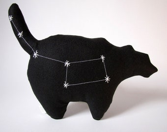 Ursa Minor Constellation Pillow - The Little Bear in Black