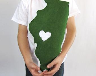 Customizable Illinois State Pillow