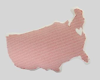 Outdoor Customizable USA Shaped Pillow