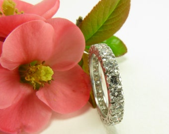 Spring Sale Circa 1950 2.00 Carat TDW Diamond and Platinum Eternity Band