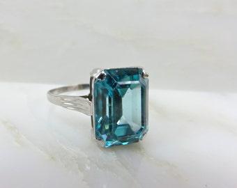 Circa 1955 Blue Zircon Ring