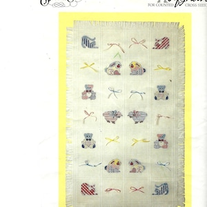Vintage Cross Stitch Kit 1986 Candamar Designs 14 by 8 Tulips in Foreground Wish You Rainbow Picture Cross Stitch from Something Special