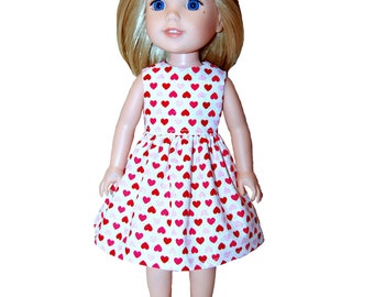 """For 14/"""" WELLIE WISHERS Doll Clothes Red Polka Dot Leggings VALENTINE/'S DAY"""
