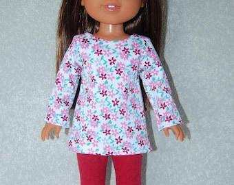 "Pajamas fit 14/"" Wellie Wishers Glitter Girls Doll Clothes TKCT Christmas Santa"