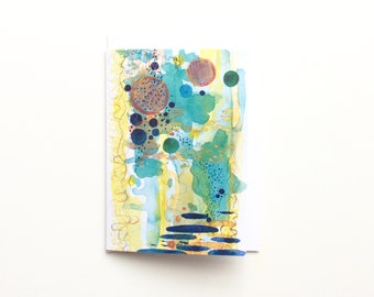 Abstract 'Tide Pool' Greeting Card