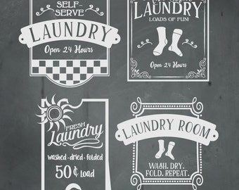 Laundry SVG Files, Laundry Cuttable SVG Files,  Svg, Eps, Gsd, Ai, Vinyl Cut Files for Silhouette, Cricut, and more