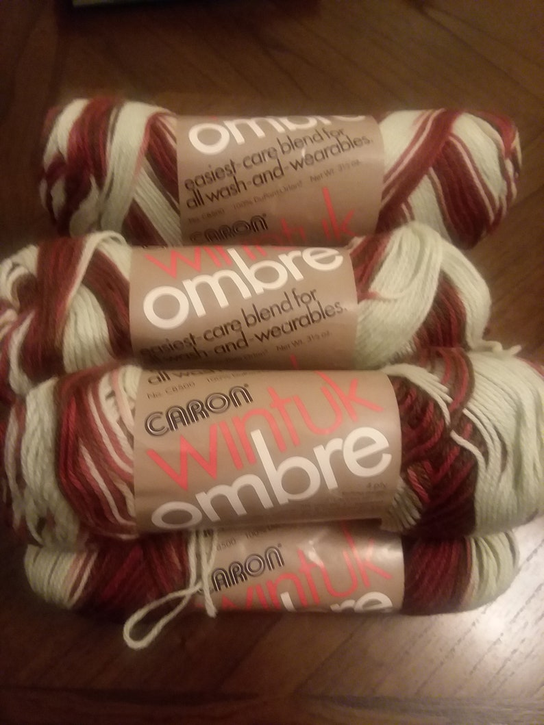 8  Skeins Vintage Caron Ombre Acryic Yarn Skeins in  SPICE