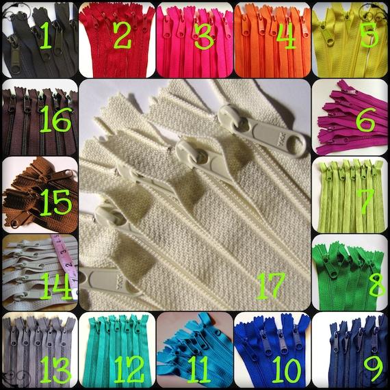 Sale Ten 12 Inch Handbag Ykk Zippers Choose Colors From Etsy