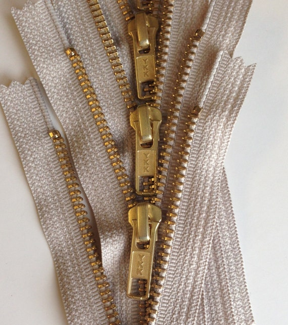 1 Zipper // Pack YKK #7 Antique Brass Separating ~ Color Brown #570 Custom Sale 24\ Jacket Zipper