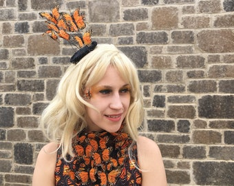 monarch butterfly fascinator effie trinket butterfly fascinator halloween the hunger games cosplay
