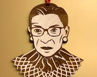 Wooden RBG Ornament, Free shipping in the US!