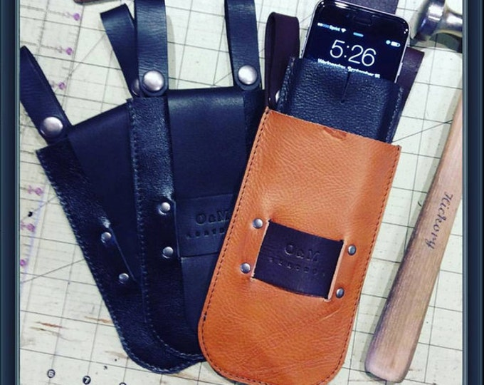 Leather sun/eye glasses case/phone case